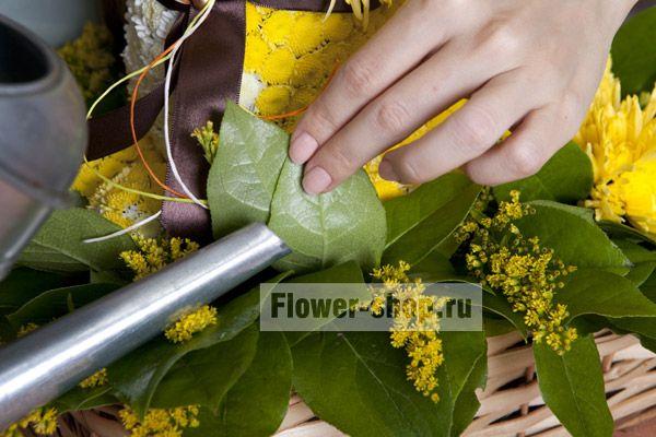 Как ухаживать за букетом цветов в губке