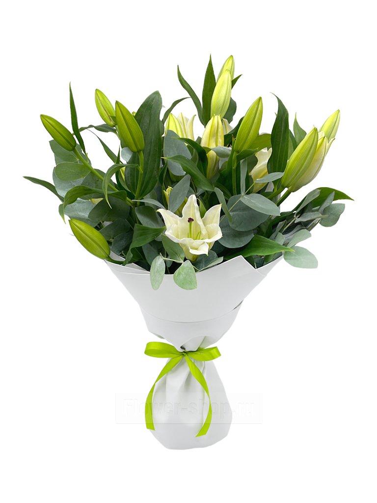 b4b96e759e64d56 Букет «Прекрасные лилии» - купить с бесплатной доставкой в Москве по ...