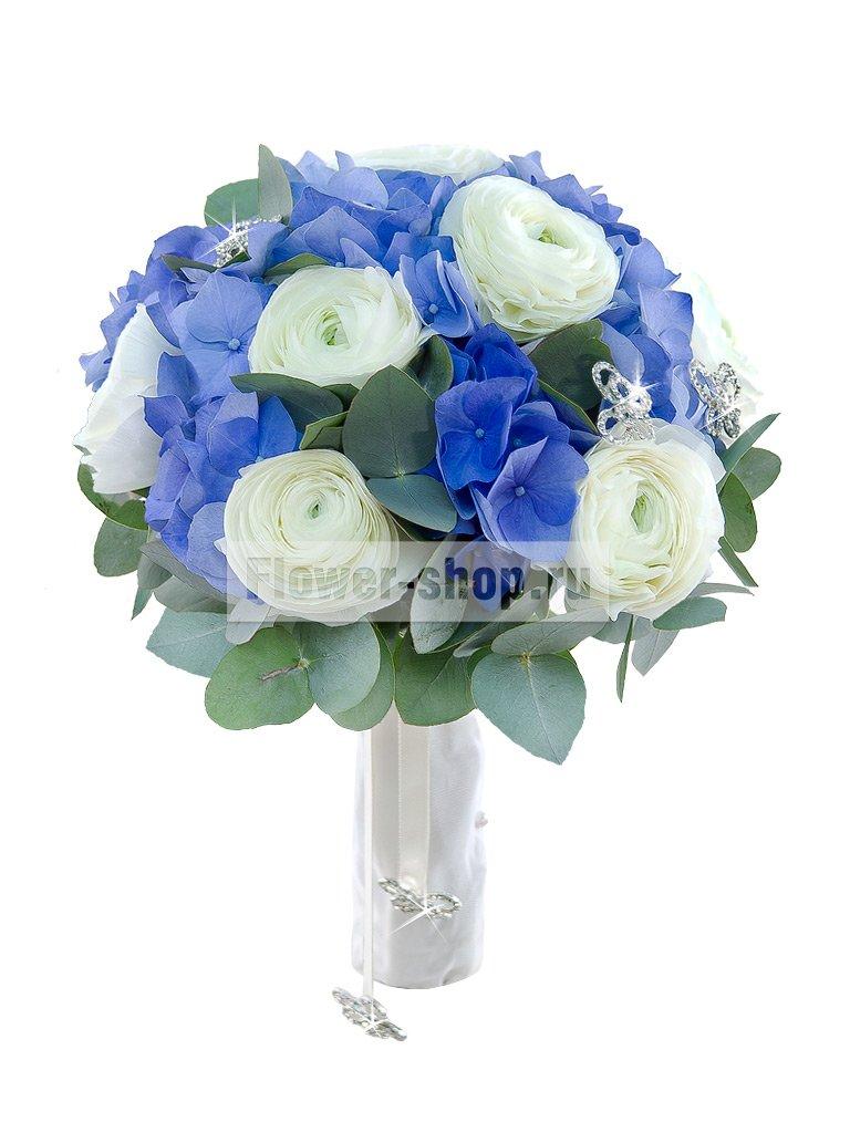 Голубой букет невесты с доставка по москва, доставка цветов в киевской области