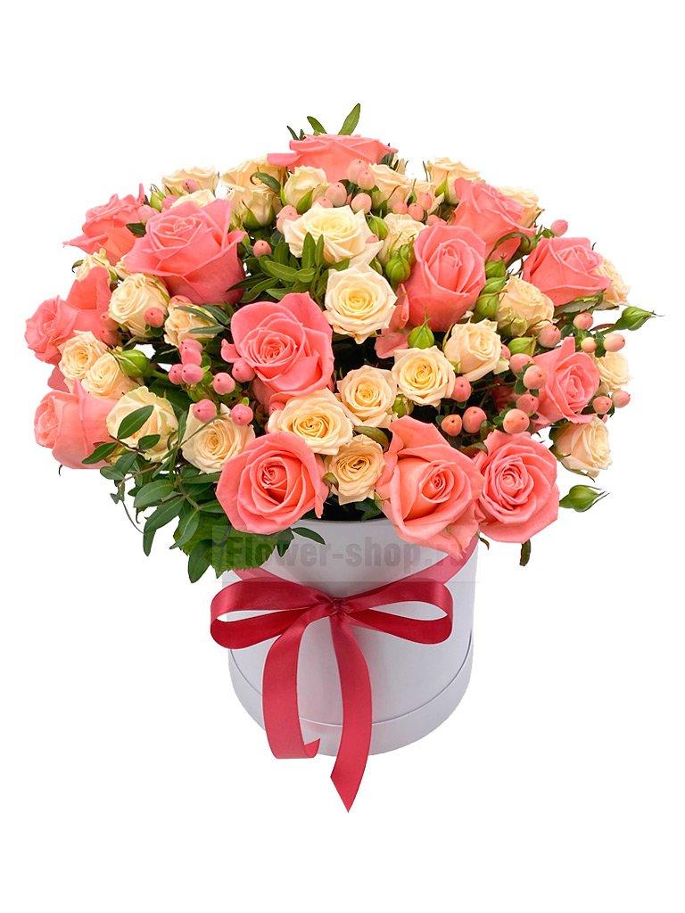 Цветы в коробке и цена 23