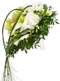 Европейские букеты из орхидеи каскад — 8