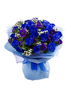 Купить синие цветы москва