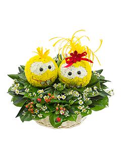 Композиция «Дружные смайлики» - доставка цветов от Flower-shop.ru